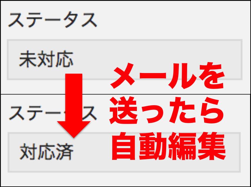 【8/23更新】メールを送ったら自動的に「メール送信済」のフラグを立てたいと思う