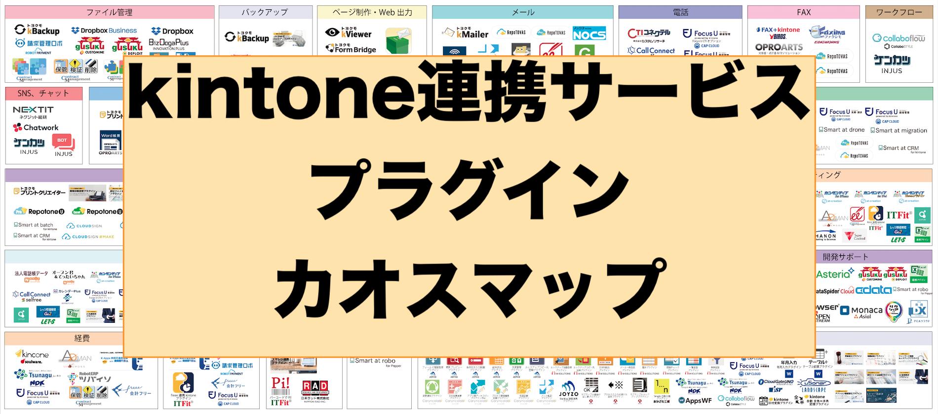 【2019年】完全版!kintone連携サービス・プラグインのカオスマップを公開