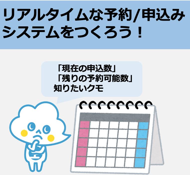 カレンダーから日付を選択して予約/申込みシステムを作成!