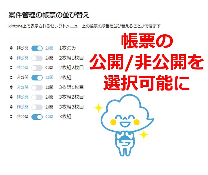 【kintone(キントーン)から帳票出力】プルダウンに表示する帳票を選択できます!
